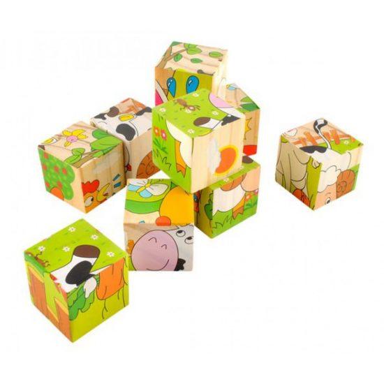 Állatos kocka puzzle - 6 motívummal 1