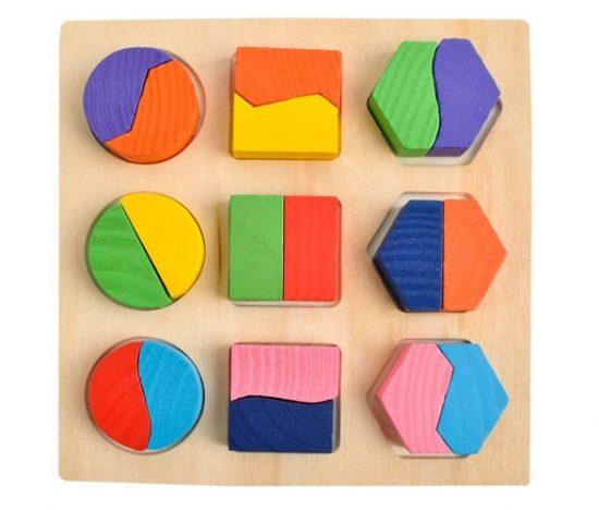 Geometriai puzzle kirakó