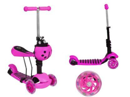 Katicás Roller 3in1 - Rózsaszín, ledes világítással 1