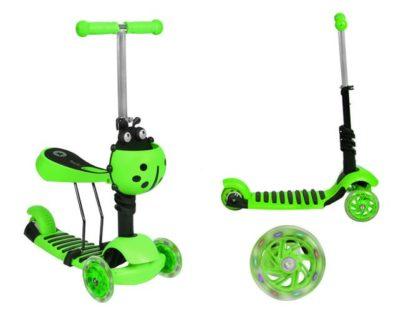 Katicás Roller 3in1 - Zöld, ledes világítással 1