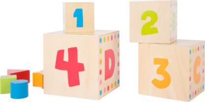 Formaillesztő fa építőjáték torony – betűk és számok 4