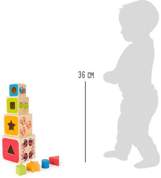 Toronyépítő játék - betű és számtanulós 6