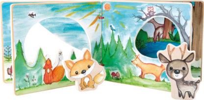 Keménylapos interaktív mesekönyv - Hív az erdő 1