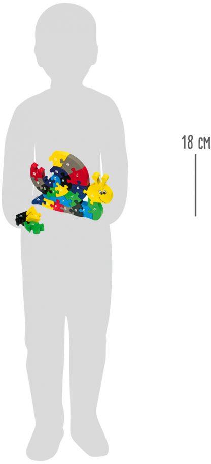Összerakós fa puzzle - Csiga
