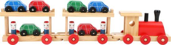 Autószállító fa vonat készlet 2