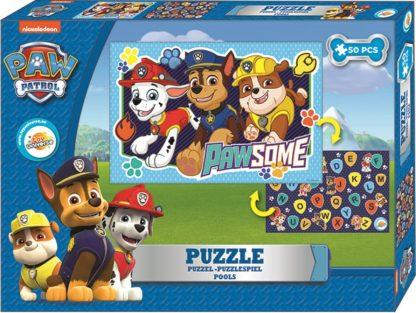 Mancs Őrjárat kétoldalas puzzle 50db-os