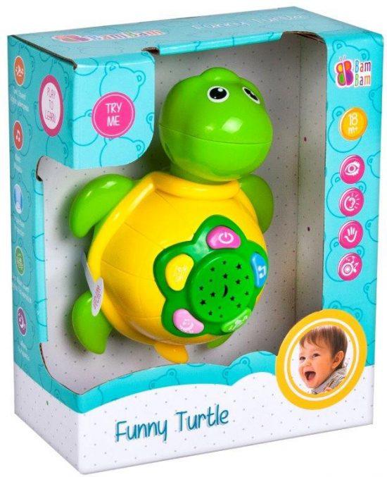 Zenélős fejlesztő játék babáknak - teknősbéka 1