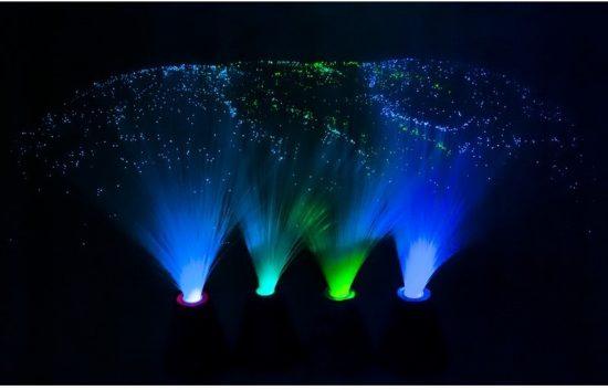 Optikai szálas dekor lámpa - Jégvarázs, Shimmer and Shine, Mancs Őrjárat