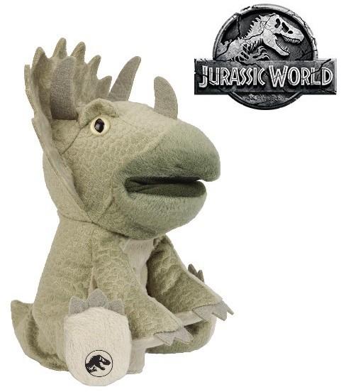 Triceratops plüss kézbáb, kesztyűbáb