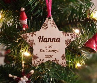 Baba első karácsonya dísz karácsonyfadísz, neves dísz
